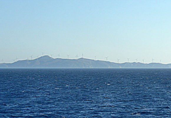 WindPark in St. George isl, Saronic Golf, Greece